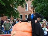 Miss America Katie Stam with Pumpkin